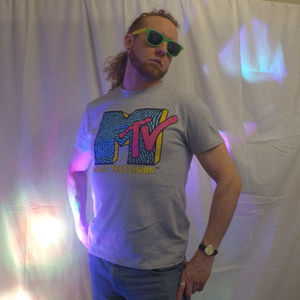 Other - MTV Retro Style Grey T-shirt M 80's Throwback M tv